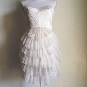 Bcbgmaxazria White Gardenia Sas Cocktail Dress 6